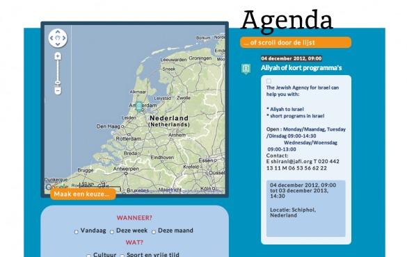 Screenshot Jonet.nl 1.0 met kaart van Nederland.