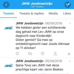 Screenshot JMW Twitter
