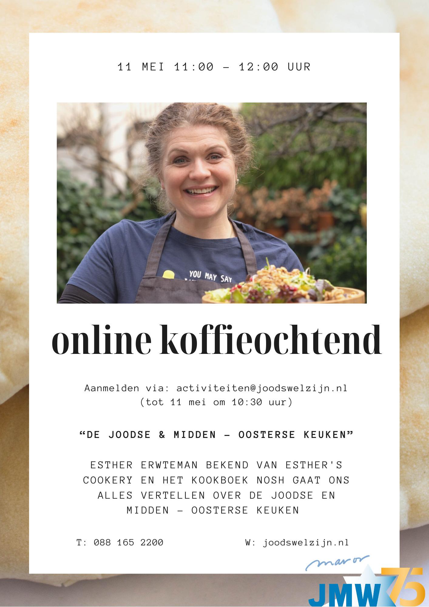 JMW: Online koffieochtend Esther Erwteman over de Joodse en Midden-Oosterse keuken