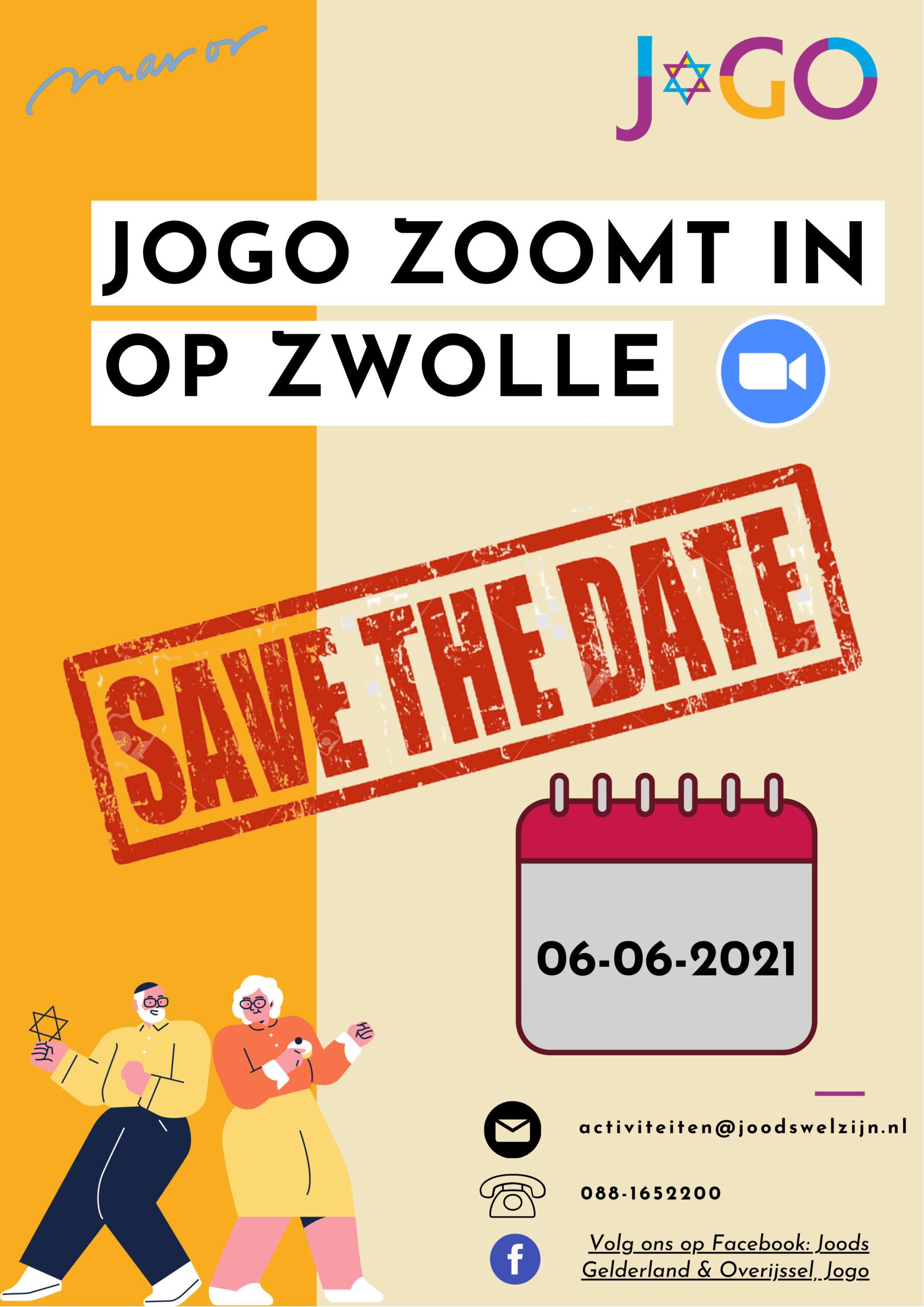 JMW: Save the date; Netwerkbijeenkomst JoGO te Zwolle